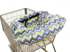 Itzy Ritzy Ritzy Sitzy Shopping Cart and High Chair Cover, Sunshine Chevron